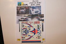 DECALS 1/24 FORD FOCUS WRC COSWORTH CARLOS SAINZ RALLYE MONTE CARLO 2000 RALLY