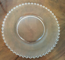 "Antique Candlewick Glass Dinner Plate Charger 10.5"" Diameter Cake Platter"