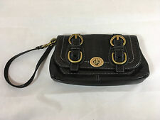 Coach Garcia Legacy Capacity Wristlet in Black Leather