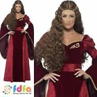 RED MEDIEVAL QUEEN GAME OF THRONES CERSEI 8-22 womens ladies fancy dress costume
