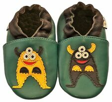 Freeship Littleoneshoes Soft Sole Leather Baby Shoes Monster 6-12M