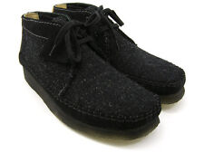 Clarks Originals ** WALLABEES WEAVER ** BLACK COMBI BOOTS ** UK 6