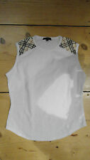 Luxus edles Top Burberry Nova Check weiß Gr. M