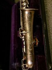Buescher True Tone C Melody Low Pitch Gold Plated Saxophone  - Playing Condition