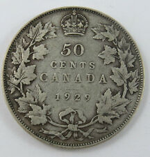 P-35 CANADA 1929 50 CENTS KING GEORGE V SEE PICTURES