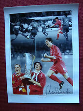 "LIVERPOOL LEGEND ROBBIE FOWLER *GOD* HAND SIGNED 12"" x 16"" MONTAGE / PHOTO - COA"