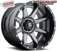 """FUEL OFF-ROAD D238 RAMPAGE 2PC ANTHRACITE & BLACK 22""""x10 WHEELS RIMS (set of 4)"""