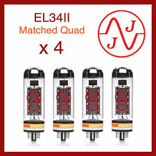JJ Electronics EL34II Power Vacuum Tube - Matched Quad - 4 Pieces