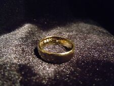 (WHY WEAR 10K,14K?) USA PLACER 22K SOLID GOLD BULLION SZ5-8 RING APM JEWELRY #33