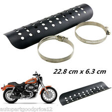 1x Motorcycle Exhaust Muffler Pipe Heat Shield Cover Heel Guard Black For Ducati
