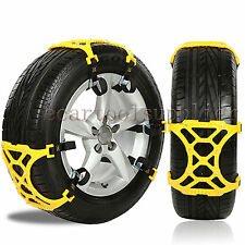 6pcs Car Snow Mud Sand Tire Chain Beef Tendon Wheel Antiskid Tyre Belt Truck Van
