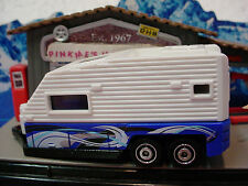 htf 2013/2015 Outdoor TRAVEL TRAILER Camper☆White & Blue☆loose Matchbox