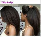 Human hair lace wigs full lace wigs front lace wigs color 4 kinky straight