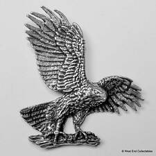 Wing Spread Eagle Pewter Pin Brooch -British Hand Crafted- Falconry Golden Bird
