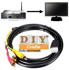 HDMI Male to 3 RCA Video Audio AV Cable Adapter For HDTV DVD 1080P Component DIY