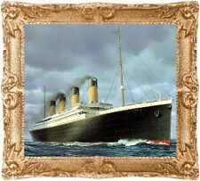 1:24 Half Scale RMS TITANIC Dollhouse Picture -Framed Miniature Art -MADE IN USA