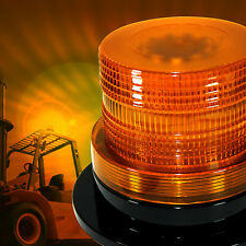 12V LED Beacon AMBER YELLOW ORANGE Light Strobe Flashing Rotating Warning Truck