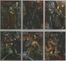 "Star Wars Revenge of the Sith  - ""Etched Foil"" Set of 6 Chase Cards #1-6"