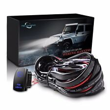 MICTUNING Wiring Harness Blue Fog LED Light Fuse 40A Relay On-off Rocker Switch