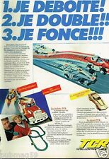 Publicité advertising 1980 Jeu Jouet circuits automobile TCR