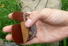 Hunting  Archery Finger Protector Cowskin Leather Finger Tabs