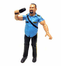"WWF WWE TNA Wrestling Classic BIG BOSS MAN Rare 6"" toy action figure + Mic RARE"