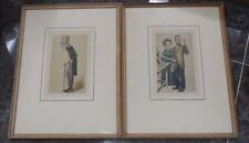 pair of antique framed prints of sir richard owen & marie curie