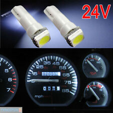 10x White 6000K 58 70 73 74 T5 Dashboard Gauge 1 5050 SMD LED Wedge Light 24v