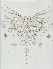 Neckline Dragonfly Rhinestone iron on Bling Transfer DIY Hot fix Applique