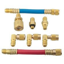 Car A/C Air Conditioner Refrigeration R134A R12 Converting Adapter Hose Kit