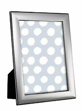 "STERLING SILVER PHOTO FRAME 5 x 3.5"" PLAIN BLACK WOOD BACK"