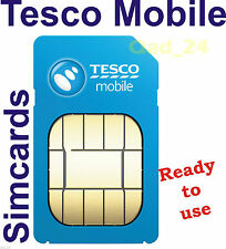 TESCO MOBILE SIM CARD PAYG TRIPLE CREDIT UK NEW PREPAID 2 IN 1 STANDARD & MICRO