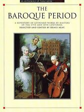 An Anthology of Piano Music Volume 1: The Baroque Period