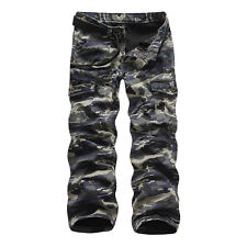 New Winter Warm Mens Combat Work Pants Fleece Camo Military Army Cargo Trousers