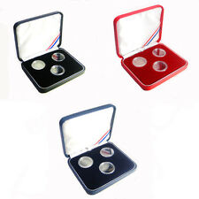 3- 1 Gram 15mm Silver Rounds Presentation Case Acrylic capsules included