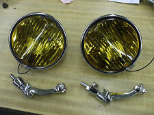 1934-39 Chevy pr NEW deep V fog lamps and brkts L@@@@@@@@@@@@K