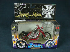 West Coast Choppers Muscle Machines Jesse James 1:18 Diecast Cherry CFL 2003 New
