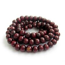 8mm Wood Tibet Buddhist 108 Prayer Beads Mala Necklace