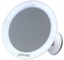 Joycare Cosmetic Mirror With Light, Magnifying Glass And Suction Cup