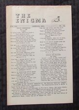 1963 THE ENIGMA Puzzle Fanzine #711 VG- 3.5 Crosswords Cryptograms 8pgs