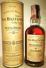 single malt scotch whisky the balvenie 12yo double wood cl70 40°+box old edition