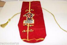 CAPTAIN MORGAN Spiced Rum holiday bottle sock liter red velvet gold embroided