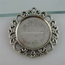 11929 5PCS Fit 25mm Cameo Alloy Holder Frame 25mm Base Tray Setting Pendant
