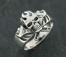 Ringe Silberringe Gothic Totenkopfring SCHRAUBER Style Skullring Jolly Rogers