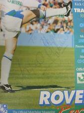 22/01/1995 Tranmere Rovers v Oldham Athletic [Autographed On Line-Ups By Five Pl