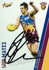 ✺Signed✺ 2015 BRISBANE LIONS AFL Card SAM MAYES