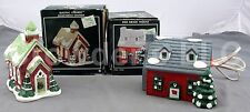 Vintage 2 Pacific Rim Ceramic Buildings: Clear Water Church & Red Brick House
