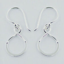 Infinity Dangle Hook Earrings Sterling Silver 925 Best Deal Plain Jewelry Gift