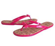 GH Bass & Co Women's Hot Pink Jelly Thong Flip Flops, Sandals, Size 10M Man Made