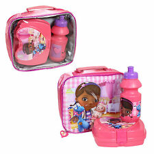 Insulated Raised Front Lunch Bag, Snack Box Bottle - Doc McStuffins